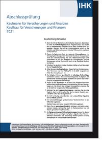 Kaufmann Kauffrau Fur Versicherung Und Finanzen Abschlussprufung